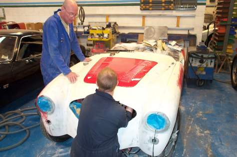 Restauration Austin Healey, Le Riche, Jersey